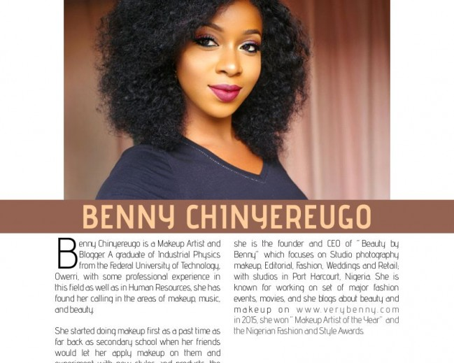 La Mode Magazine 15th Edition  Feature: Meet The CEO Beauty BY Benny!