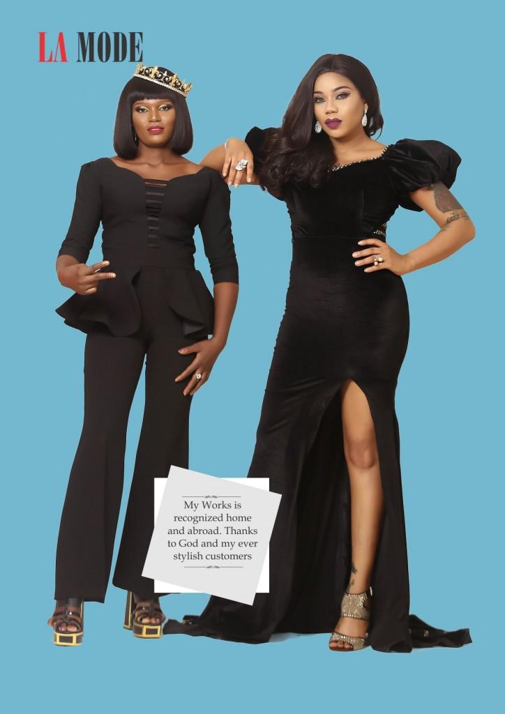 Toyin Lawani & Gladys 3