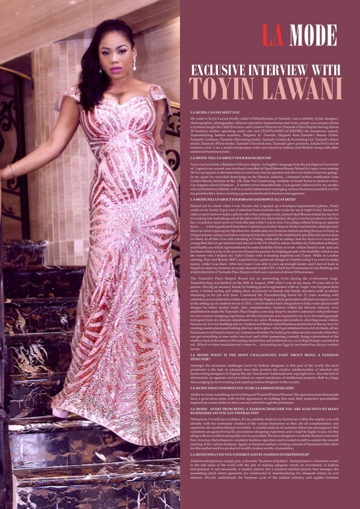 Toyin Lawani & Gladys Interview