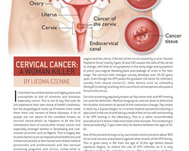Cervical Cancer By Ijeoma Ezenne: La Mode Magazine 16th Edition Column Feature!