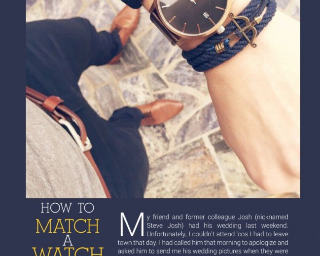 How To Match A Watch With Your Outfit By Mr. Kobi