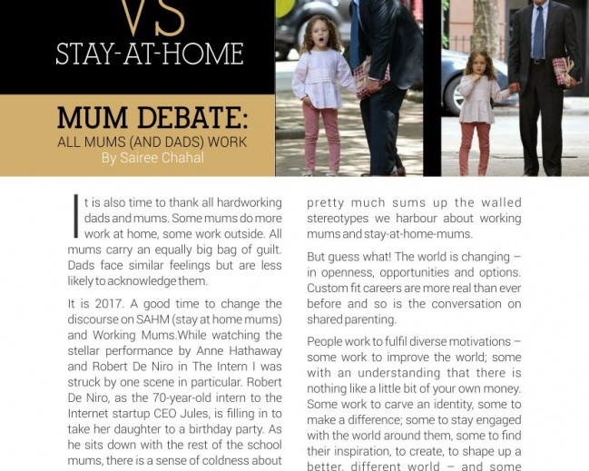 Cut Out the Working Mum vs Stay-at-Home Mum Debate: ALL Mums (and Dads) Work by Sairee Chahal