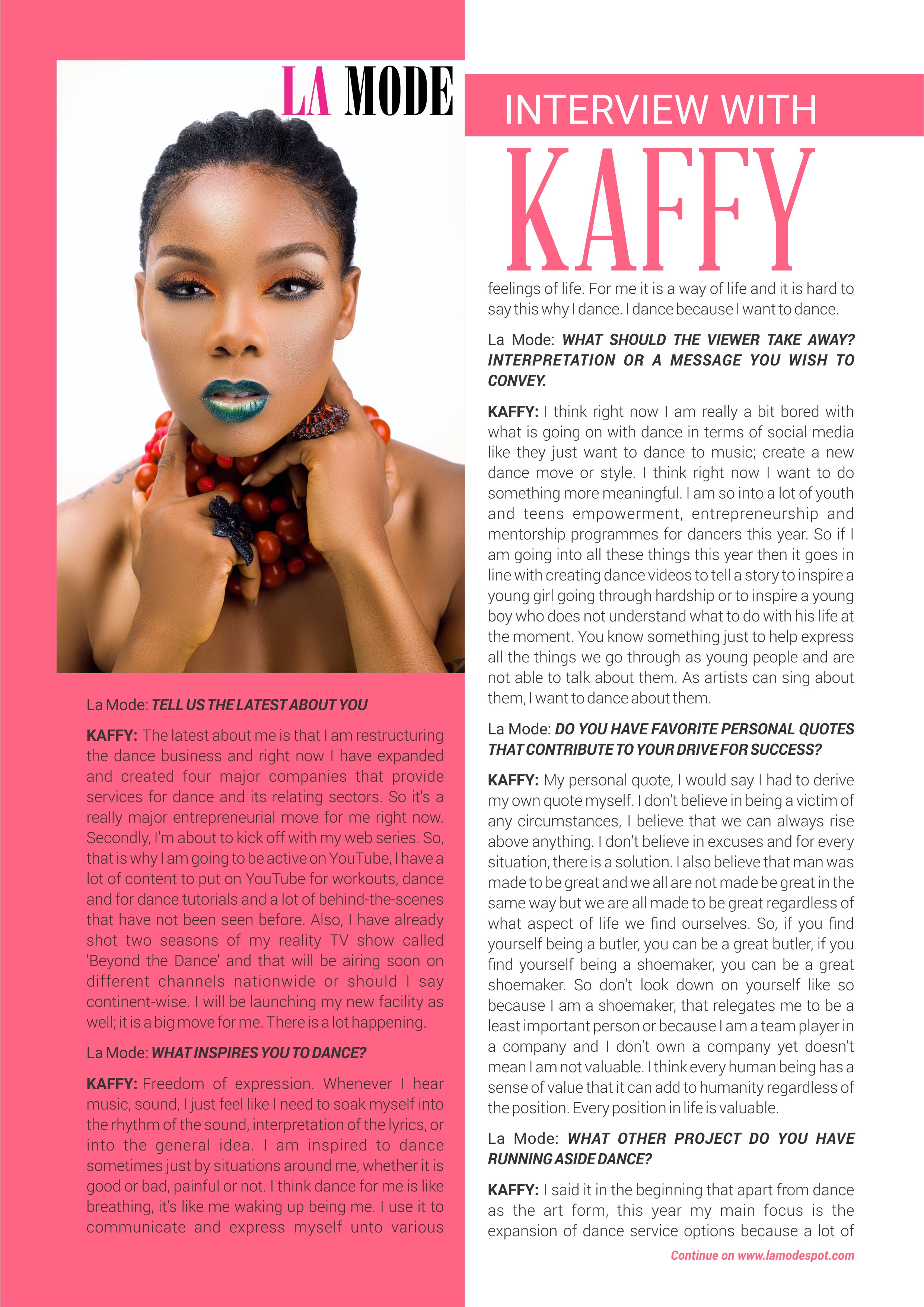 Cover Feature: Exclusive Interview With Kaffy