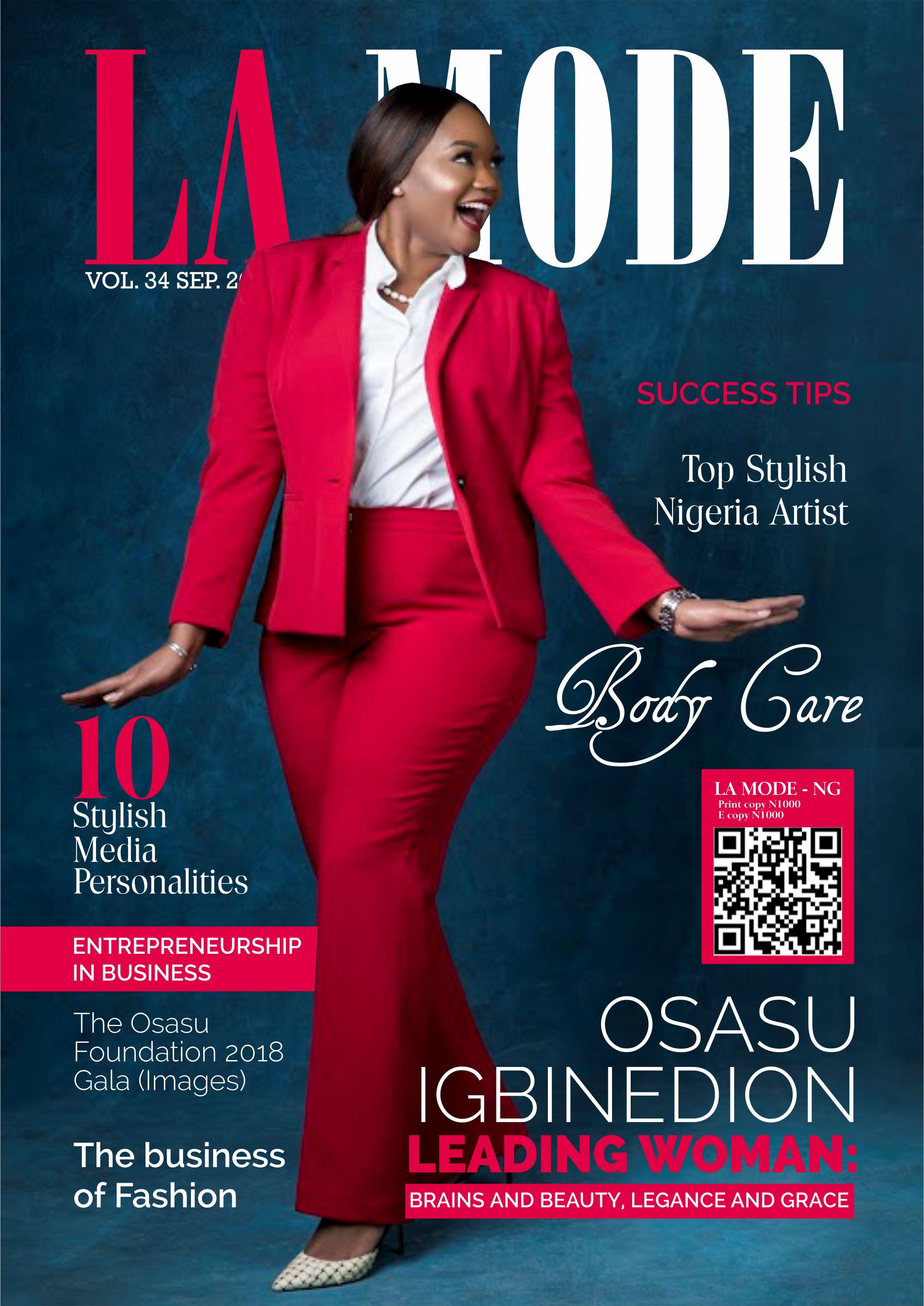 magazine igbinedion mode september issue personality covers beauty lamodespot brains star onobello