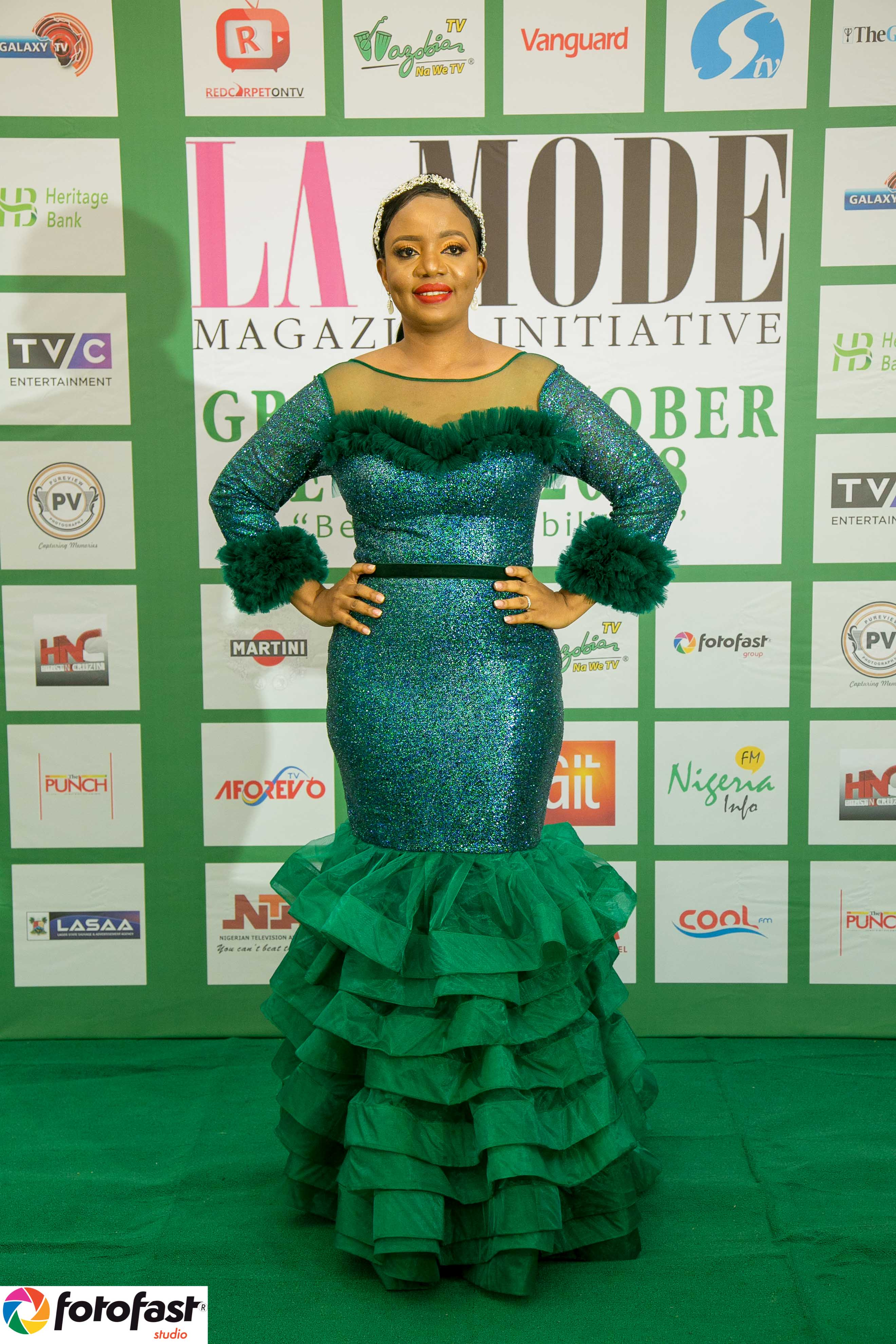 images CEO La Mode Magazine Mrs. Sandra Odige's Radiant Made By Trish .O. Couture's Outfit at the Green October Event 2019 Beyond Disabilities modern collection