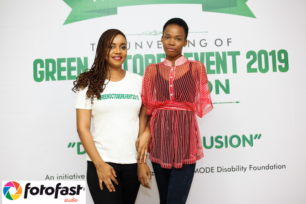 La Mode Magazine CEO Sandra Odige with a Disability beneficiary