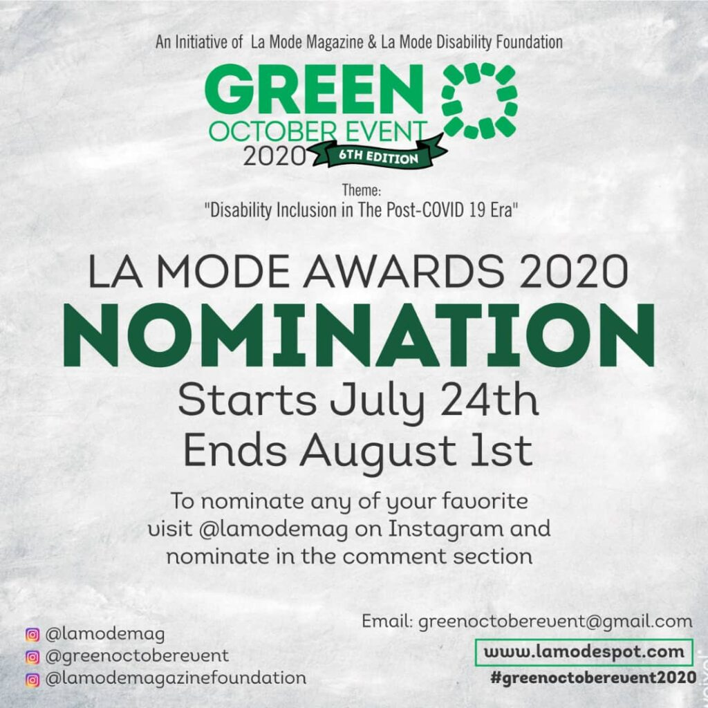 La Mode Award Nomination