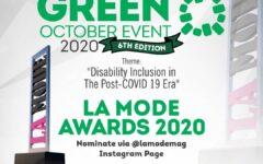 La Mode Awards Categories List: Green October Event 2020