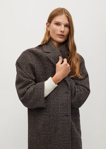Oversized wool coat - Mango