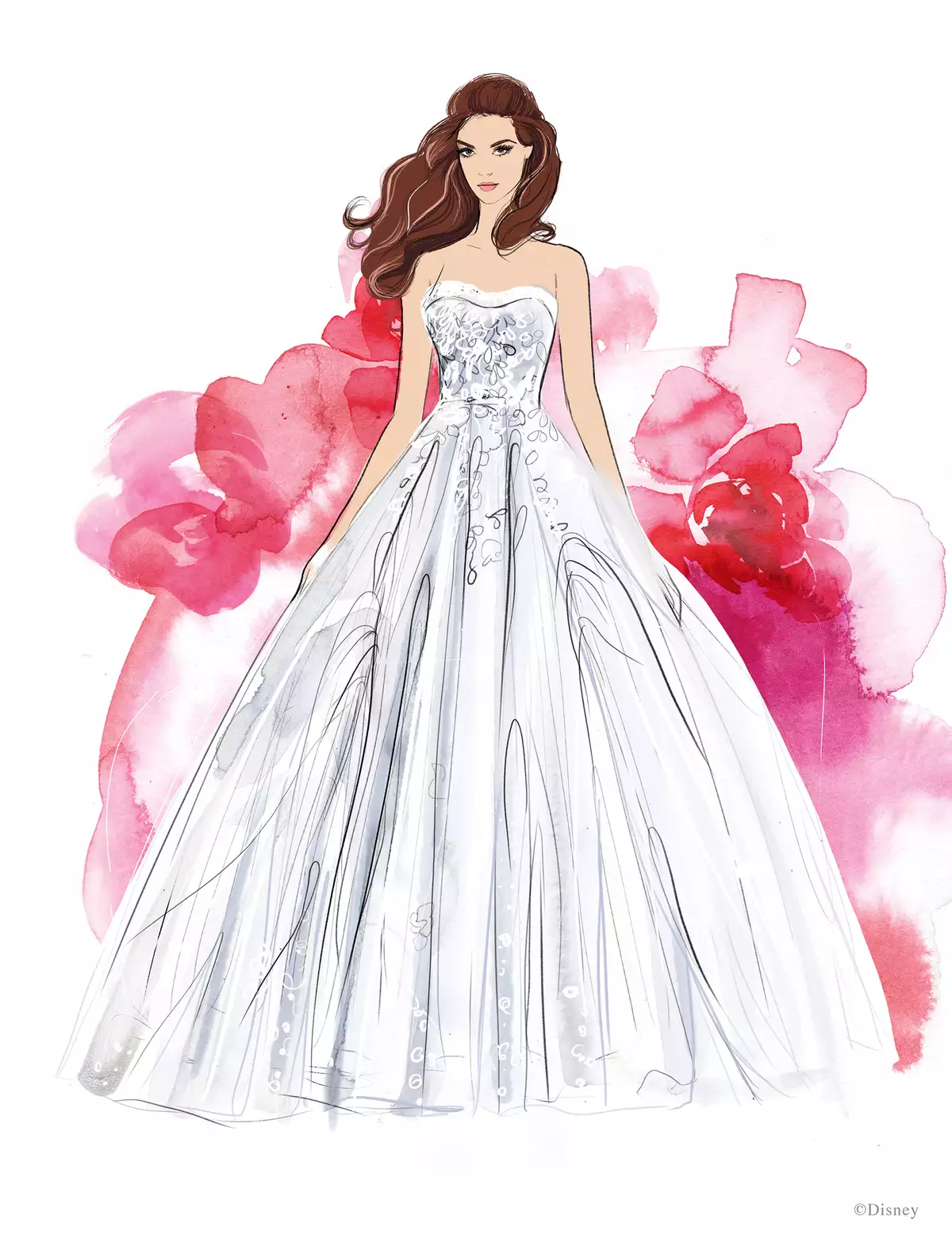 COURTESY OF DISNEY AND ALLURE BRIDALS