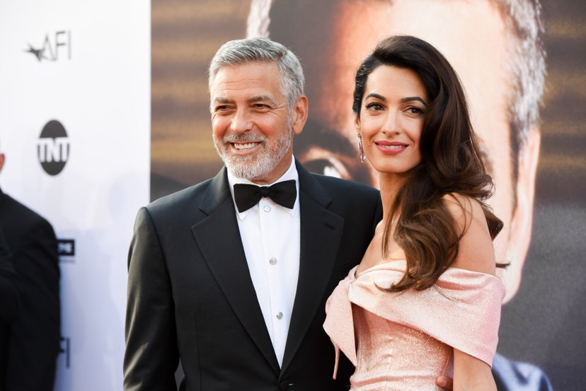 HOLLYWOOD, CA - JUNE 07: George Clooney and Amal Clooney attend 46th AFI Life Achievement Award Gala Tribute on June 7, 2018 in Hollywood, California.
